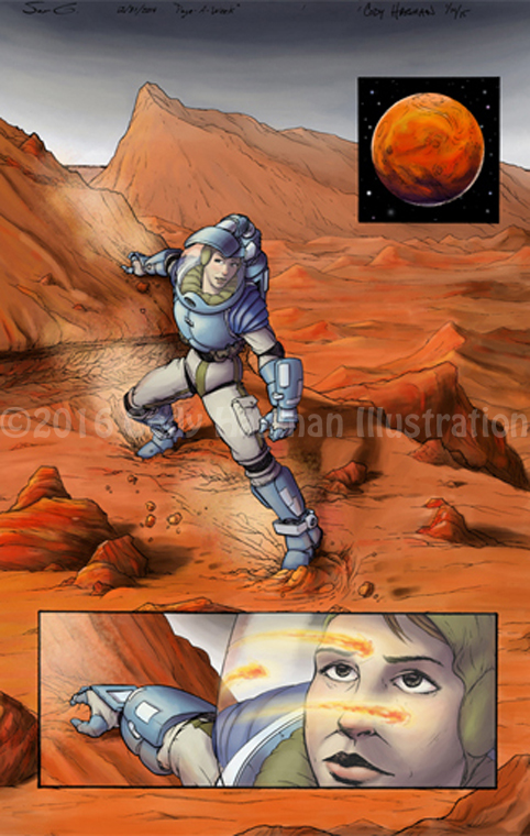 Alone on Mars (Pencils by Sam Garland) - Digital, 2015
